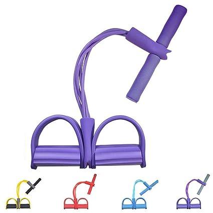 zhangbing para ejercitar piernas, 4 Tubos, multifunción, para Yoga, Fitness, Cuerda de tracción, Culturismo, Bandas de Resistencia para el Ejercicio ...