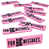 Big Mistake Eraser – 12 Pack Jumbo Eraser – Pencil Eraser School Supplies for Kids – Great for Children on Preschool, Elementary and Middle School