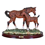 K90261 Horse and Foal Brown 7.5 Inches