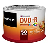 Sony 50DMR47PP 50 Pack Ink-Jet Printable DVD-R Bulk Spindle