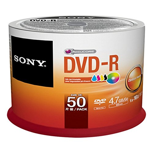 Sony 50DMR47PP 50 Pack Ink-Jet Printable DVD-R Bulk Spindle by Sony