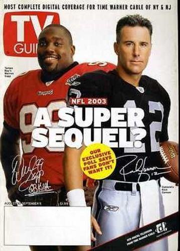 Tampa Bay Bucs Warren Sapp Oakland Raiders Rich Gannon 2003 Large Size TV Guide