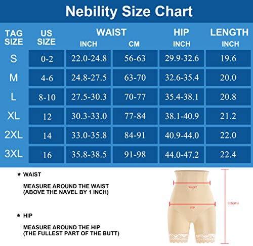 Nebility Waist Trainer for Women High Waist Tummy Control Panty Lace Butt Lifter Shapewear Slim Body Shaper Shorts