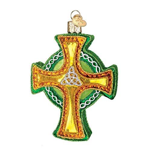 Old World Christmas Trinity Cross Glass Blown Ornament (Ornament Celtic Cross Christmas)