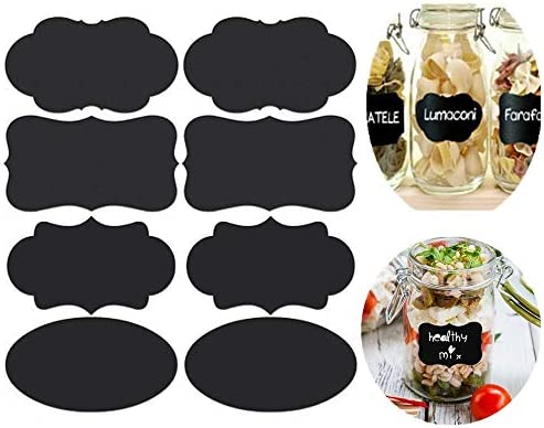 photo regarding Printable Jar Labels named Aolvo Blank Chalkboard Labels Fixed 40Computers Erasable Printable