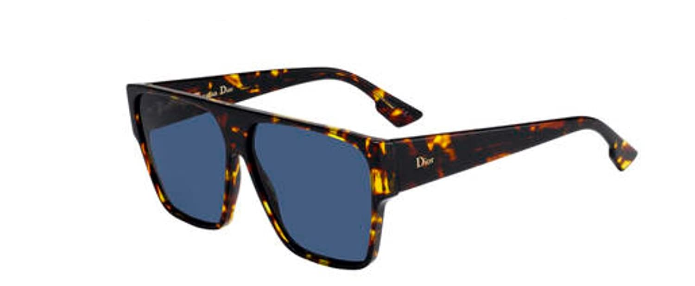 12dc2abb0d16e Amazon.com  New Christian Dior Diorhit 0P65 Brown Yellow Havana Sunglasses   Clothing