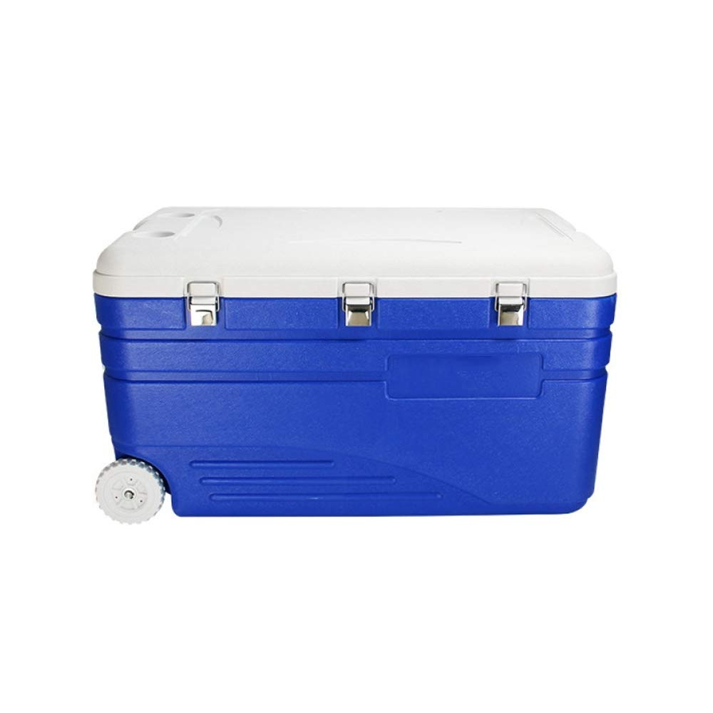 Ambiguity Kühlboxen,130L PU mit Rädern super Kühlung Isolation Isolation Kühlung Box Essen Hot & Cold Dual-Use-Transport-Box 080229