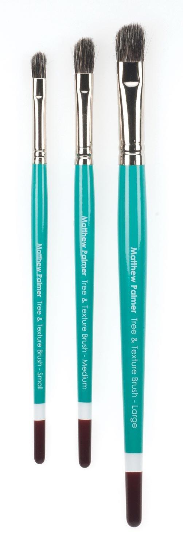 Matthew Palmer Tree & Texture Brush Set of 3