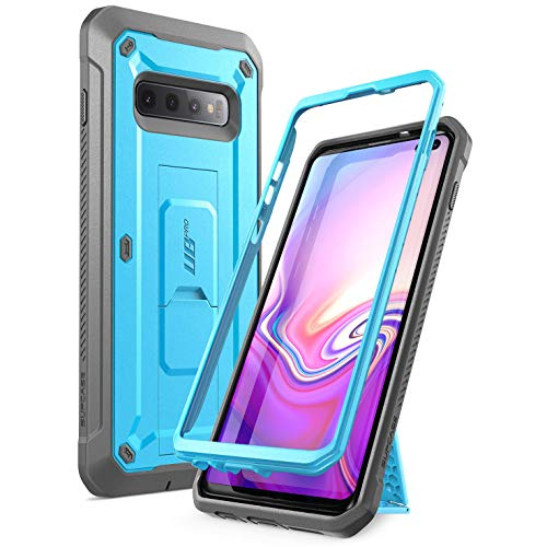 - SUPCASE Unicorn Beetle Pro Series Designed for Samsung Galaxy S10 Plus Case (2019 Release) Full-Body Dual Layer Rugged with Holster & Kickstand Without Built-in Screen Protector (Blue)