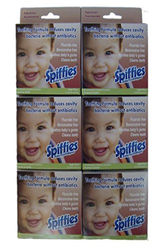 Apple Flavored Toothpaste (Spiffies ToothWipes, 20 Apple Spiffies, 6 Boxes)