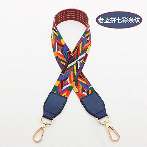 (Dark blue Woven belt Wide 3.8cm / Length 73cm Mini Purse/Shoulder/Cross Body Bag Replacement DIY Strap replacement purse strap)