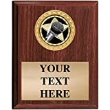 Music Plaques - 5x7 Customized Microphone Soloist Trophy Plaque