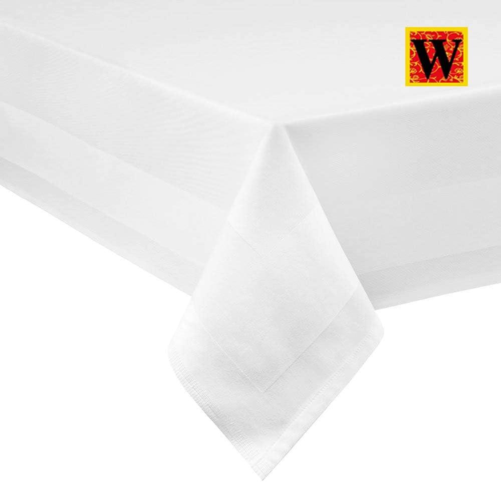 Coton 22inch x 22inch Westlane Linens Serviettes de Table en Coton r/éutilisables 56 x 56 cm Tissu Ultra Doux 100/% Coton Blanc Blanc 56 x 56 cm