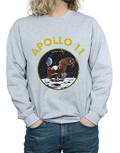 Classic Absolute Sweat shirt Nasa Sport Gris Homme Apollo 11 Cult rZZqYt