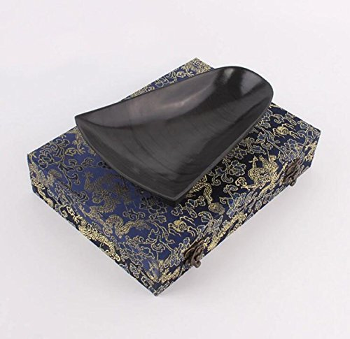 Fine Quality Inkstone Traditional Dustpan Inkstone Three-foot Inkstone Inkwell Old Pit Eyebrow Water Ripple Yan Gift Yan Wenfang Four Treasures by GHGJU