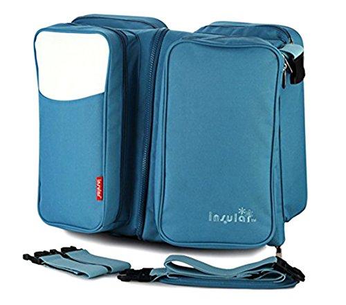 Baby Boy Girl Diaper Nappy Mother Bag Portable Handbag (Blue) - 3