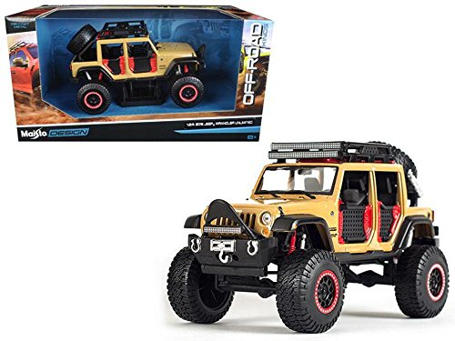 2015 Off Road Models - 2015 Jeep Wrangler Unlimited Brown Off Road Kings 1/24 Diecast Model Car by Maisto