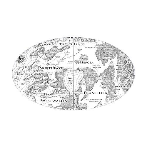 CafePress - The Westlands Combined Update 7 Before Split June - Oval Bumper Sticker, Euro Oval Car - Westland Map