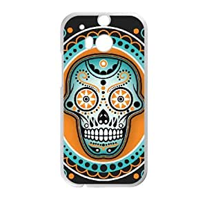 HTC One M8 Cell Phone Case White Sugar Skull Cover noek