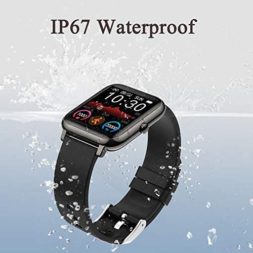 Smart Watch, Fitness Tracker with 1.4inch Full Touch Screen, Smartwatch for Men Women Sleep Monitor Step/Calorie Counter Activity Tracker Stopwatch, IP67 Waterproof Fitness Watch for iOS, Android…