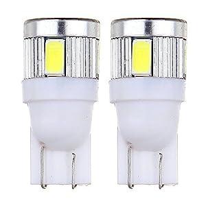 CCIYU 2pcs Pure White 6000k High Power T10 T15 921 168 LED Light Bub for Backup Reverse Light Lamps Parking License Plate Light