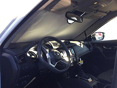 The Original Windshield Sun Shade, Custom-Fit for Nissan Rogue SUV w/Sensor 2016, 2017, 2018, 2019, Silver -