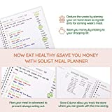 Soligt Weekly Meal Planner with Easy Tear Off