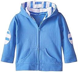 aden + anais Baby-Boys Newborn Jersey Hoodie, Ultramarine, 6-9 Months