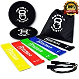 80 Day Obsession Resistance Loop Bands and Exercise Sliders Set with Bonus Jump Rope | (2) Core Sliders | (5) Workout Bands | (1) Metal Bearings Speed Rope For Sale