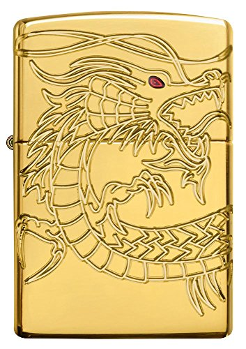 Dragon Armor Heavy Zippo Outdoor Indoor Windproof Lighter Free Custom Personalized Engraved Message Permanent Lifetime Engraving on Backside by Zippo (Image #4)