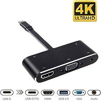 goodex Dex estación para Nintendo Switch/Samsung Galaxy S8/MacBook/Chromebook, Nintendo Switch TV Dock, convertidor de USB Type C a HDMI Adapter Hub para proyector Monitor de TV (Plata)