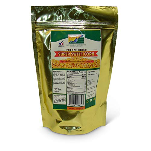 Mother Earth Products Freeze Dried Super Sweet Corn (2 Cup Mylar Bag) ()