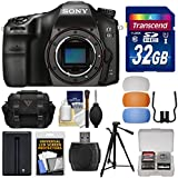 Sony Alpha A68 Digital SLR Camera Body 32GB Card + Battery + Case + Tripod + Flash Diffusers + Kit