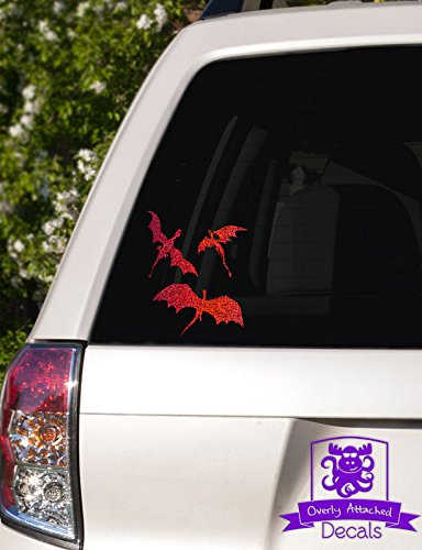 Overly Attached Decals 3 Dragons Flying Specialty Vinyl Car Decal - 10