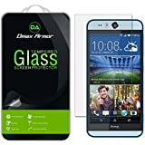 HTC Desire Eye Glass Screen Protector, Dmax Armor® HTC Desire Eye Screen protector [Tempered Glass] Ballistics Glass, 99% Touch-screen Accurate, Anti-Scratch, Anti-Fingerprint, Bubble Free, Round Edge [0.3mm] Ultra-clear, Maximum Screen Protection from Bumps, Drops, Scrapes, and Marks [1 Pack]- Retail Packaging