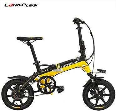 LANKELEISI A6 Elite 14 Pulgadas Bicicleta eléctrica Plegable, 36V ...