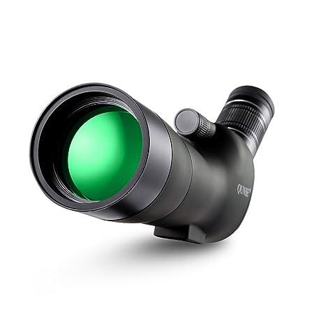 QUNSE Zoom Spektive, 20-60X60 Riesiges Sehfeld, Optiklinse mit Mehrfachbeschichtung, Geeignet zur Vogelbeobachtung, zur Beoba