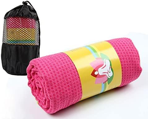 Winthome Antideslizante Yoga Mat Toalla de Yoga con Bolsa de Transporte Gratuita