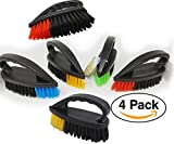 Cleaning Scrub Brush, Professional, Multi-Purpose, Heavy Duty (4 pack) assorted Colors