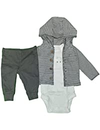Carter's Baby Boys' 3 Piece Cardigan Set Little Lamb Striped NB