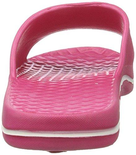 AQUA-SPEED - zapatos/flip-flop de baño rosa/blanco