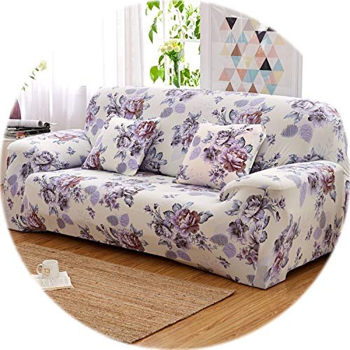 Floral Pattern Elastic Stretch Universal Sofa Covers Sectional Throw Couch Corner Cover Cases for Furniture Armchairs Home Decor,11,4 Seater (Calgary Canada Kohl's)
