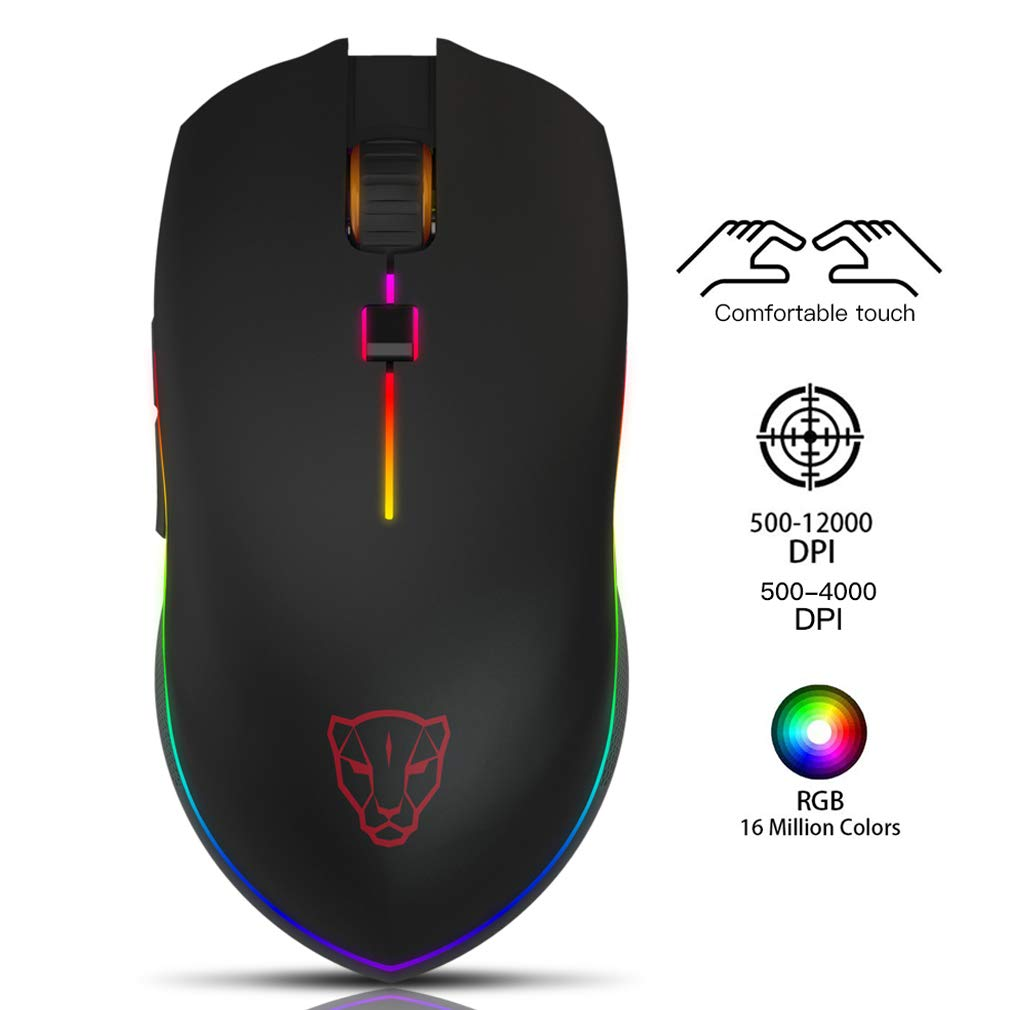 Mouse Gamer : Motospeed Usb Con Cable 6 Boton Optico Rgb Le