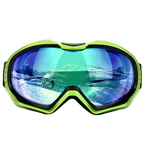 CarBoss Motorcycle Goggles Anti-Fog/UV Eye Protection Fitover Glasses Goggle Military Combat Eyewear Tactical Goggles Outdoor Sunglasses for Motocross Cycling, Skiing (Green Frame Green - Eyewear Combat