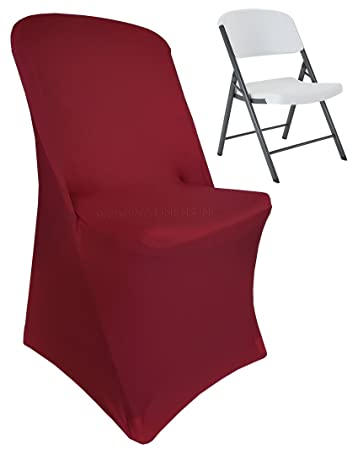 Prime Wedding Linens Inc 2 Pcs Lifetime Spandex Stretch Fitted Folding Chair Covers Wedding Party Decoration Chair Cover Burgundy Gmtry Best Dining Table And Chair Ideas Images Gmtryco