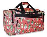 Ever Moda Cactus Print Duffle Bag
