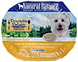 Natural Balance Delectable Delights Wet Dog Food Cups, Duck'En-Itas Duck And Chicken Formula In Broth With Pumpkin And Potato, 2.75 Oz (Pack Of 24) Review
