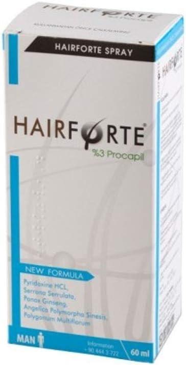 Hairforte anti-caida hereditaria cabello. Bloqueador DHT, con PROCAPIL