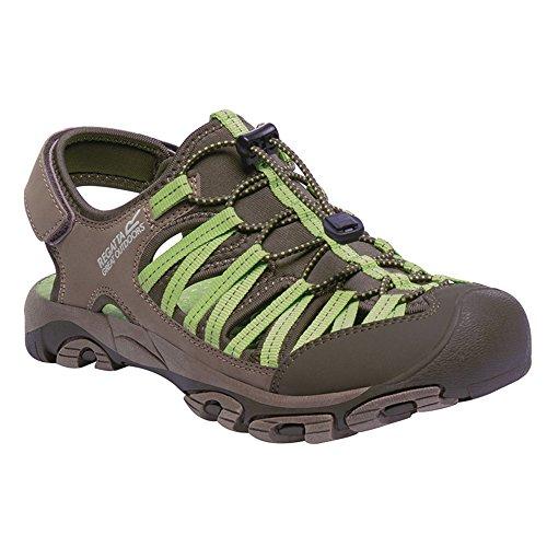 Regatta Great Outdoors - Zapatillas deportivas modelo Eastshore Active para mujer Walnut / Jade Lime