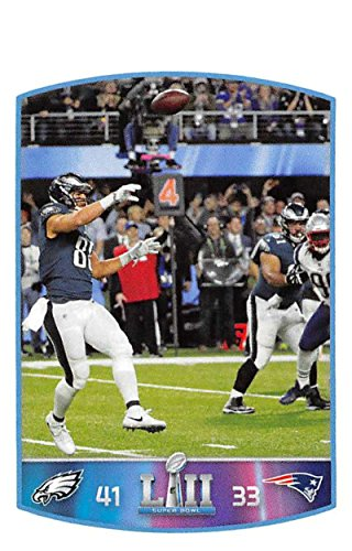 Nfl Eagles Card Philadelphia Football (2018 Panini NFL Stickers Collection #453 Trey Burton Philadelphia Eagles Super Bowl LII Trick TD Pass Official Football)